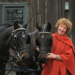 Me with my two Morgan horses, Meg and Lucky, who I raised and trained from birth.
