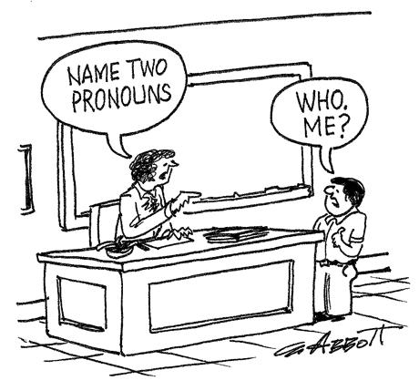 Pronoun cartoon