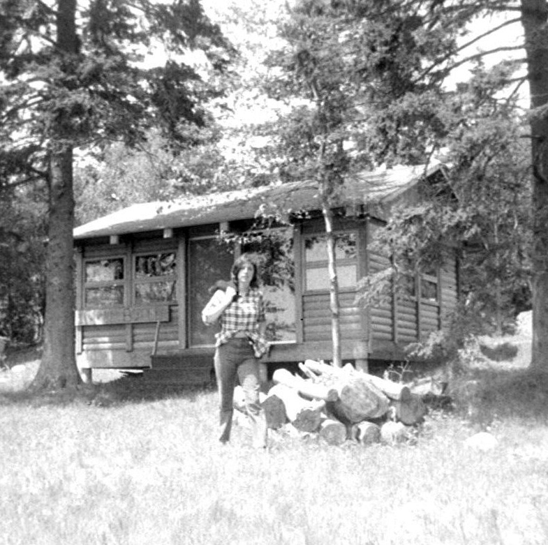 """Buckle Botel"": the cabin we built on our island in Maine, circa 1963."