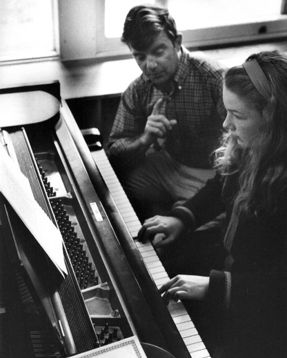 Piano Lesson: at North Country School, 1964.
