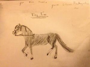 Tiny Tim drawing