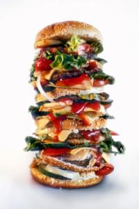 oversized burger