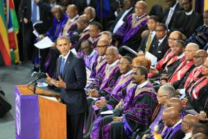 President Obama Joins Mourners At Funeral Of Rev. Clementa Pinckney